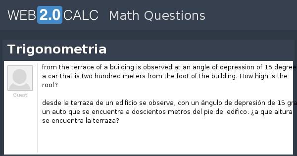 Ver Pregunta Trigonometria